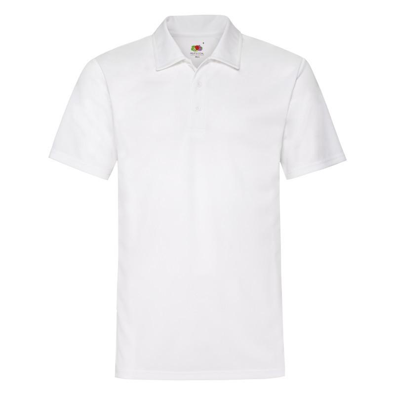 Мужская рубашка поло Mens Performance Polo (Цвет: Белый; Размер: L)