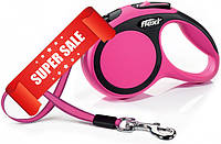 Поводок-рулетка Flexi New Comfort XS, 3 м, лента, розовый