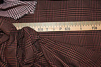 №611 . Бенгалин, клетка крупная, шоколад . осень -растяжение по долевой! джинсовое плетение нити, фото 1