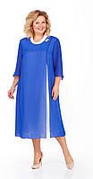 Платье Pretty-903/2 белорусский трикотаж, василек, 56