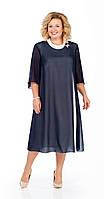 Платье Pretty-903/3 белорусский трикотаж, темно-синий, 56