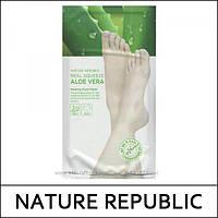 Пилинг-носочки NATURE REPUBLIC Real Squeeze Aloe Vera Peeling Foot Mask