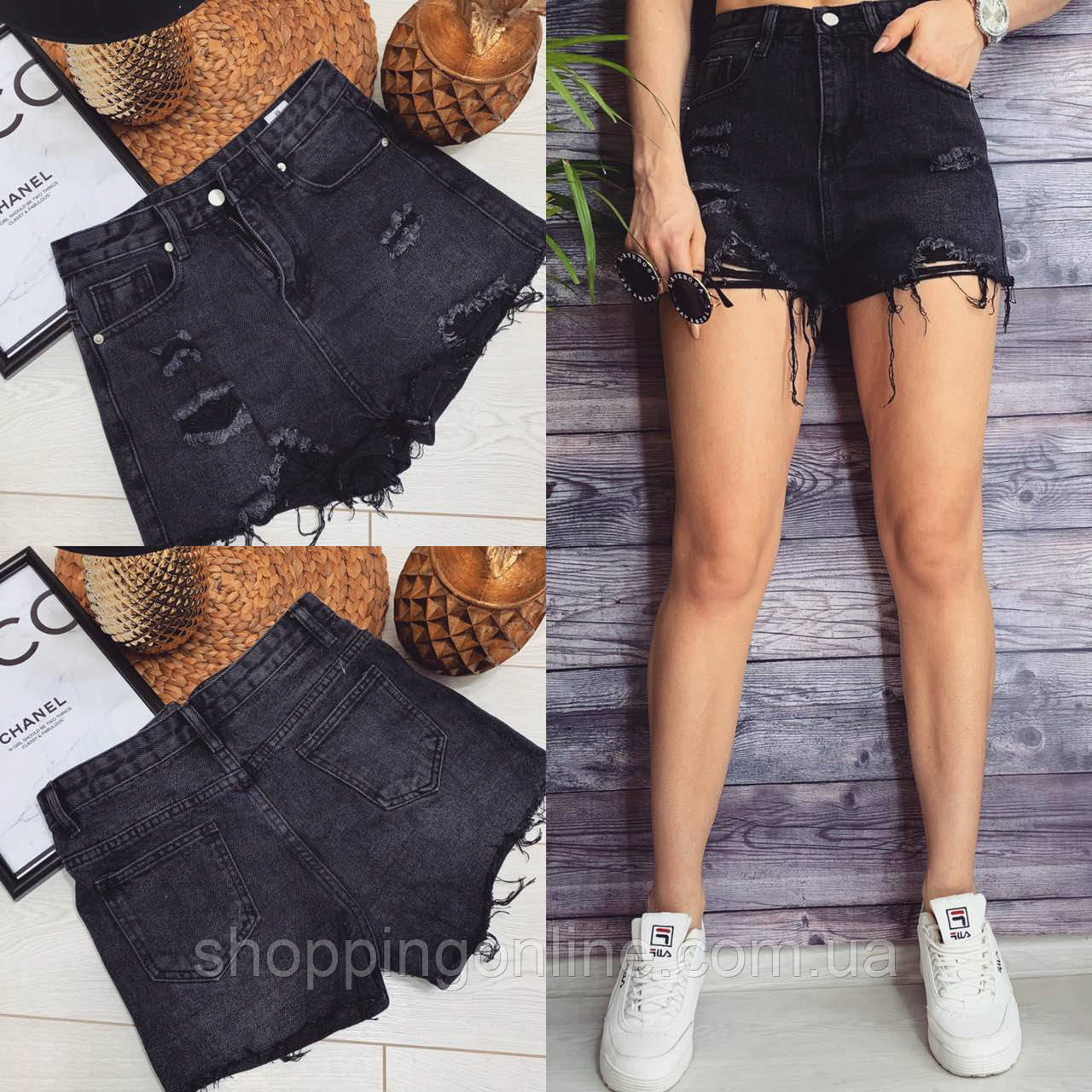 3085 Bao.Er шорты джинсовые женские с рванкой котоновые (L,XL-4, 5 ед.)