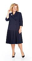 Платье Pretty-923 белорусский трикотаж, темно-синий, 54