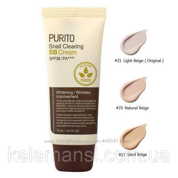 ВВ крем с экстрактом улитки PURITO Snail Clearing BB Cream SPF38 PA+++, 30 мл