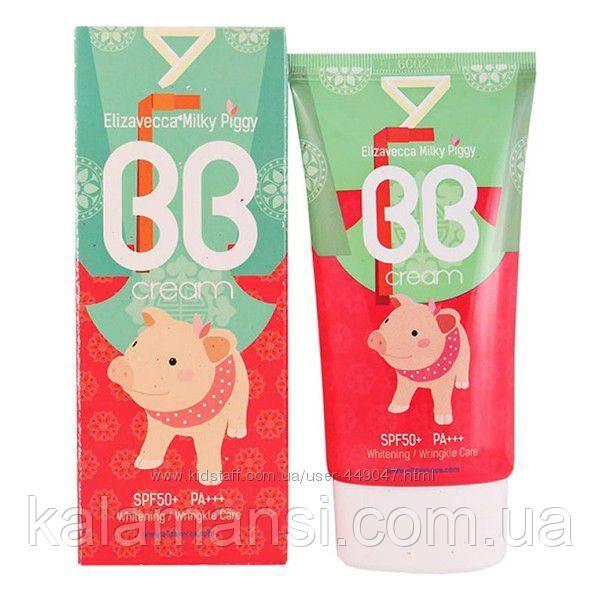 Многофункциональный BB крем с Гиалуроновой кислотой и Коллагеном Elizavecca Milky Piggy BB Cream SPF50+ PA+++
