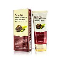 Лечебный улиточный BB крем FarmStay Visible Difference Snail BB Cream SPF40 PA++ 50мл, фото 1