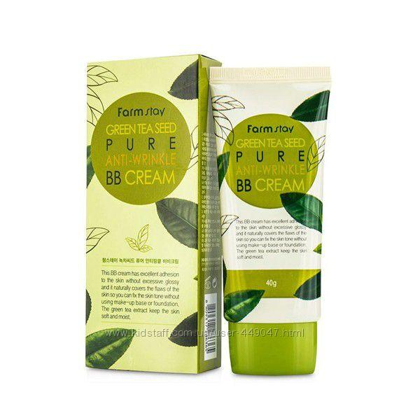Матуючий ВВ крем з насінням зеленого чаю FARM STAY Green Tea Seed Pure Anti-Wrinkle BB Cream 40мл