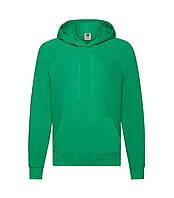 Мужская легкая толстовка с капюшоном зеленая 140-47