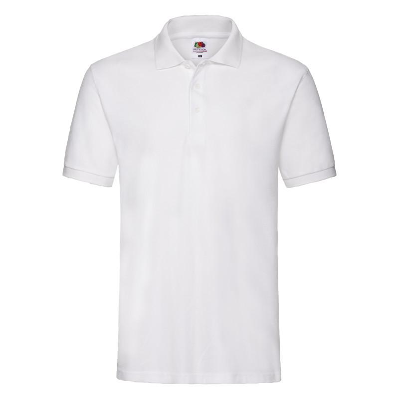 Мужская рубашка поло Premium Polo (Цвет: Белый; Размер: 2XL)