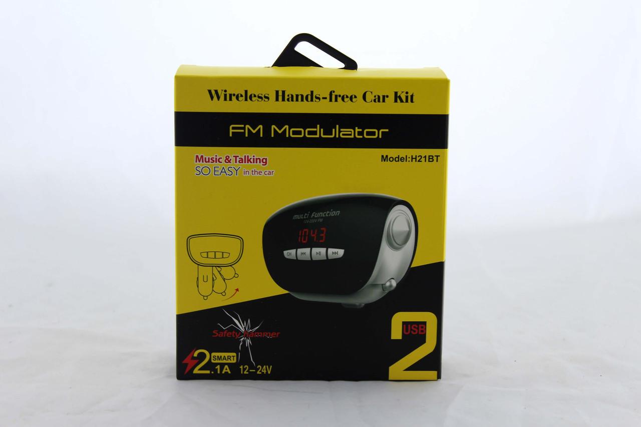 Трансмитер FM MOD. H21 + BT (ОПТОВАЯ цена от 100 шт)