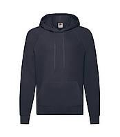Мужская легкая толстовка с капюшоном темно-синяя 140-АZ