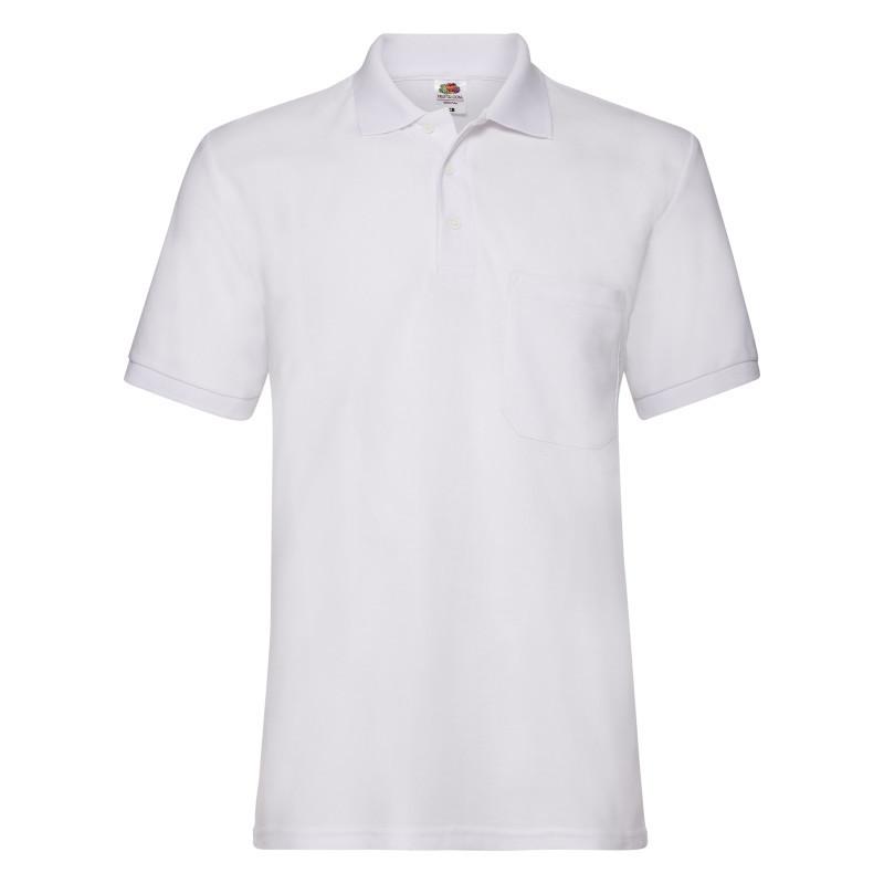 Мужская рубашка поло Pocket Polo (Цвет: Белый; Размер: 2XL)