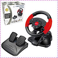 Игровой руль для ПК Esperanza EG103, руль с педалями для компьютера