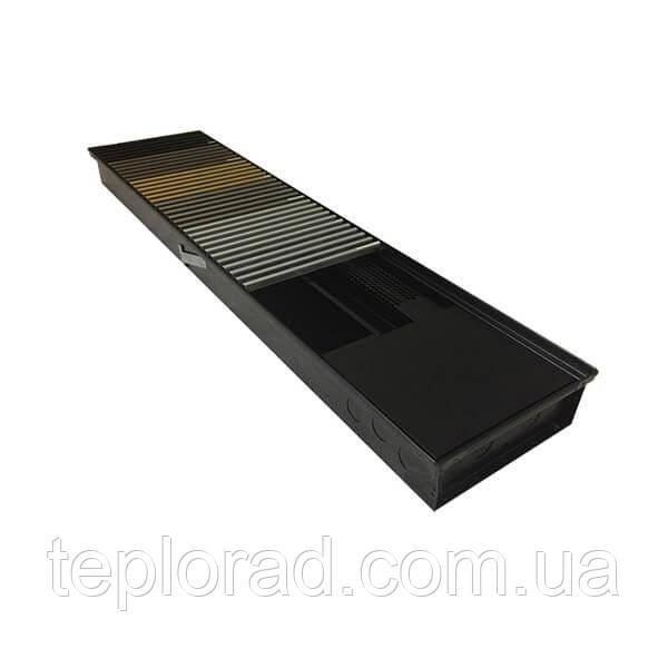 Внутріпольний конвектор з вентилятором Verano Turbo VKN5-78/274/2750 без рамки з модульною сіткою благородна сталь
