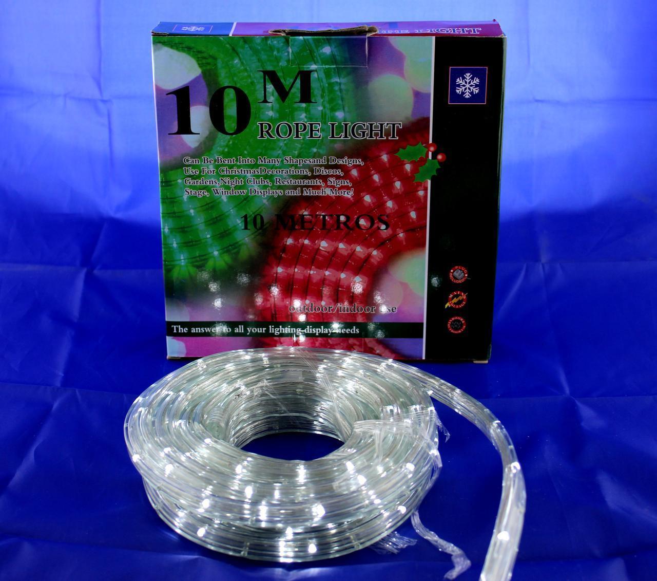 Xmas Rope light 10M W (ПРОДАЕТСЯ ТОЛЬКО ЯЩИКОМ!!!) (ОПТОВАЯ цена от 10 шт)