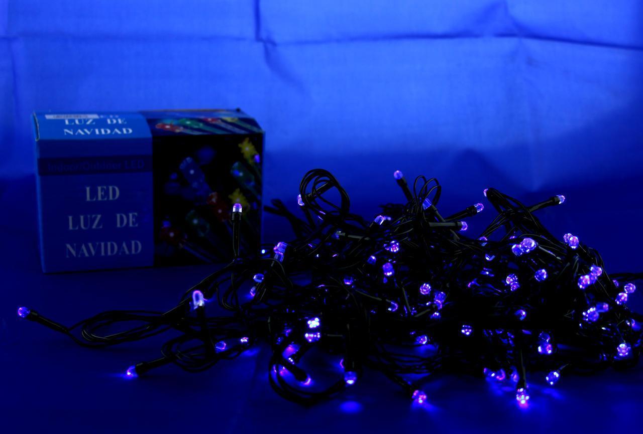 Xmas LED 100 B-7 Синяя (ПРОДАЕТСЯ ТОЛЬКО ЯЩИКОМ!!!) (ОПТОВАЯ цена от 100 шт)