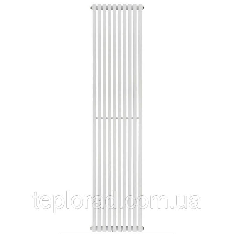 Трубчастий радіатор Betatherm Quantum 2 1800x405x104 мм вертикальний RAL9016