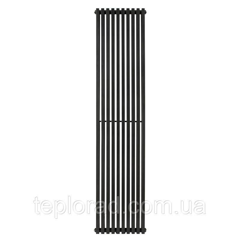 Трубчатый радиатор Betatherm Quantum 2 1800x405x104 мм вертикальный RAL 9005 MAT