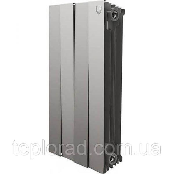 Радиатор Royal Thermo Piano Forte 591/100 Silver Satin 4 секции (НС-1161669)