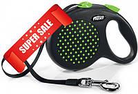 Поводок-рулетка Flexi Design L, 5 м, лента, зеленый