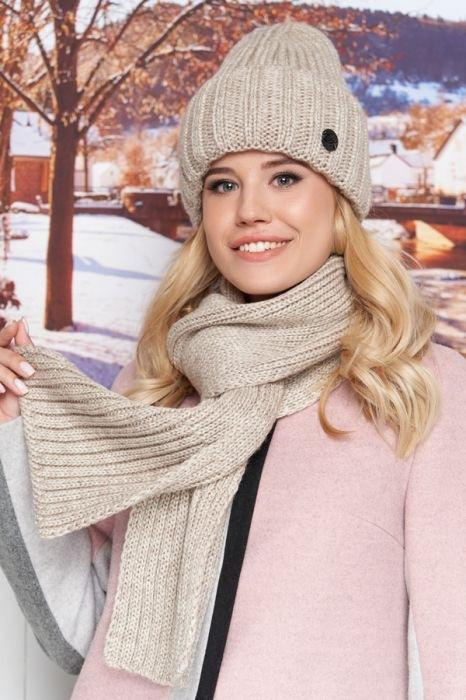 Зимняя женская комплект «Наомі» (шапка і шарф)