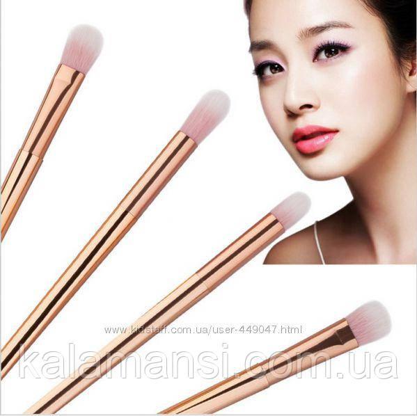Набор золотых универсальных кисточек для нанесения макияжа, 4 шт