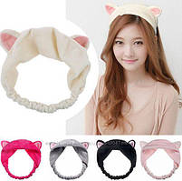Косметическая повязка на голову кошачьи ушки Hairband