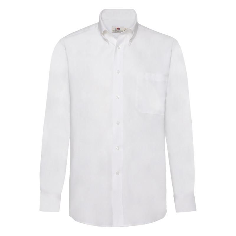 Чоловіча сорочка поло Long Sleeve Oxford Shirt (Колір: Білий; Розмір: 2XL)