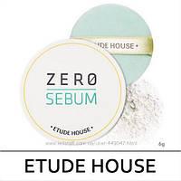 Прозрачная матирующая пудра Etude House Zero Sebum Drying Powder 6г, фото 1