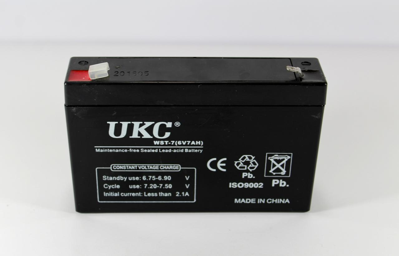 Аккумулятор BATTERY 6V 7A UKC (ОПТОВАЯ цена от 20 шт)