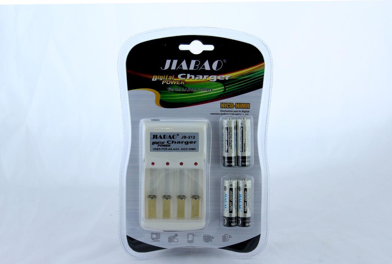 Комплект Зарядное + батарейки пальчик 212AA (ОПТОВАЯ цена от 60 шт)