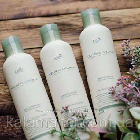 Шампунь с хной от выпадения волос Lador Pure Henna Shampoo 200мл