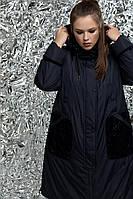 Утепленный женский плащ с кружевом больших размеров 54-72