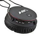 Беспроводные Bluetooth стерео наушники NIA X2 с МР3 и FM Black, фото 5