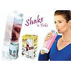 Блендер шейкер для коктейлей и смузи Shake Take (005675) Белый, фото 4