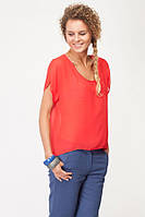 Блуза шифон красная