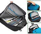 Многофункциональный рюкзак-сумка для ноутбука Socko 17'' Blue, фото 5