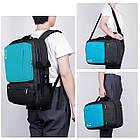 Многофункциональный рюкзак-сумка для ноутбука Socko 17'' Blue, фото 6