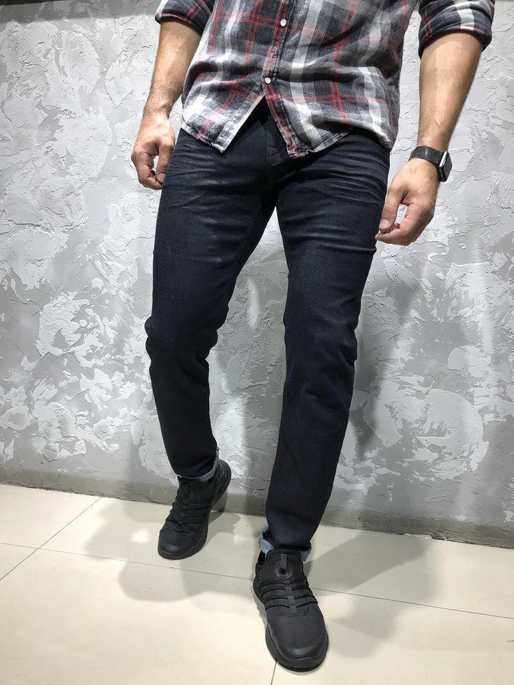 Мужские джинсы черно-синего цвета WHITNEY