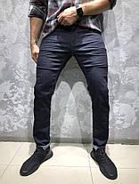 Мужские джинсы черно-синего цвета WHITNEY, фото 2