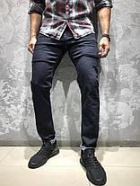 Мужские джинсы черно-синего цвета WHITNEY, фото 3