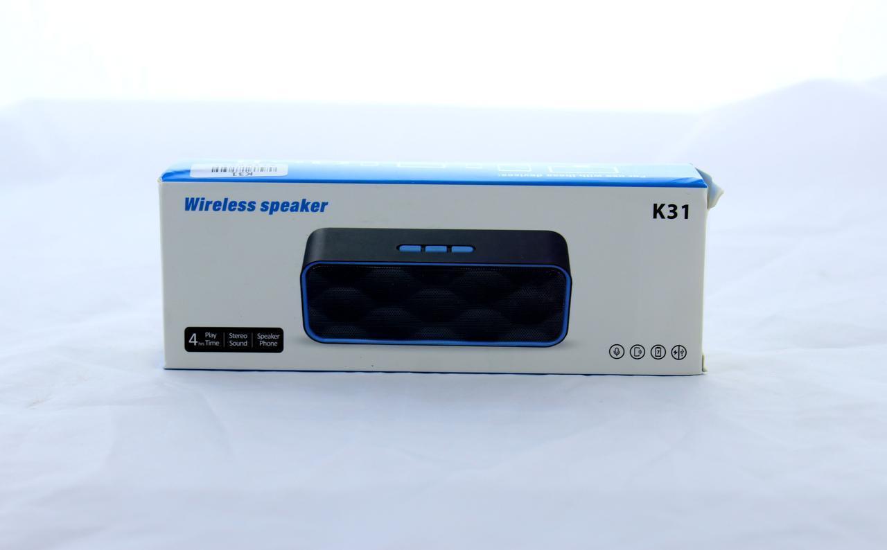Моб.Колонка SPS K31+BT (ОПТОВАЯ цена от 100 шт) уп 50шт.