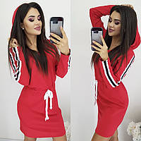 """Платье женское спортивное с лампасами, размеры 42-48 (3цв) """"LINDA"""" купить недорого от прямого поставщика"""