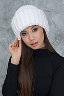 Стильная белая шапка Вьюга