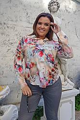Женская блуза Цветы 0236