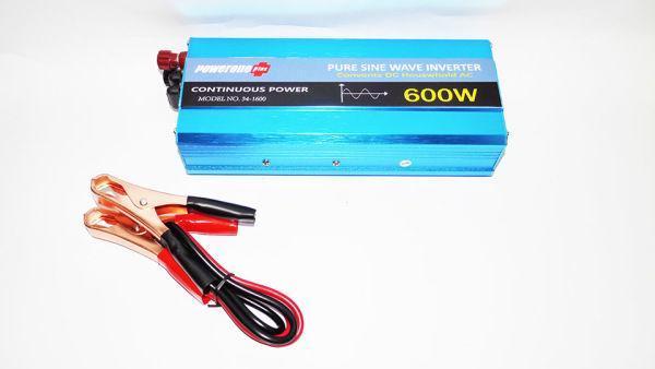 Перетворювач напруги інвертор Powerone 12 - 220V 600W - чиста синусоїда