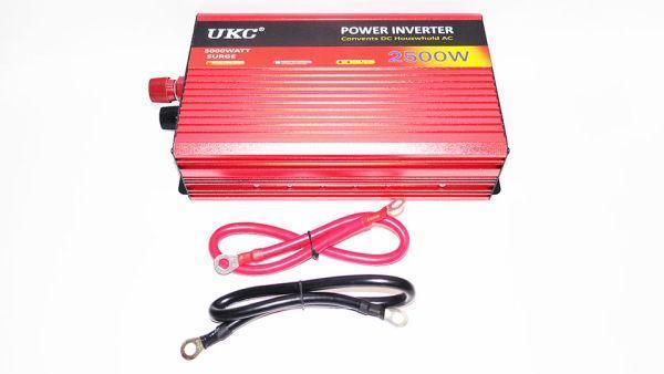 Преобразователь с Функцией плавного пуска UKC 12V-220V 2500 Вт с USB