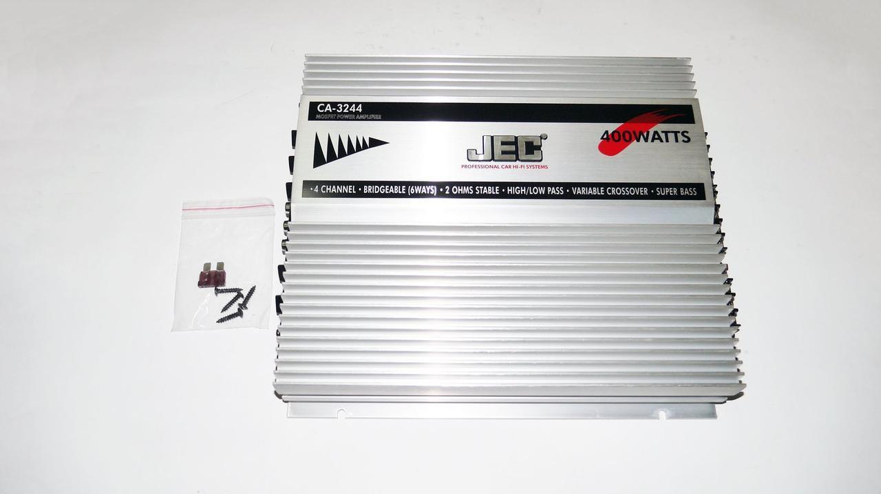 JEC CA-3244 400W Автомобильный усилитель звука 4х канальный