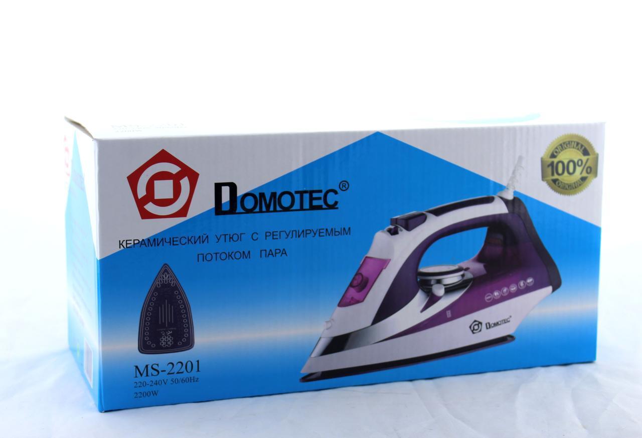 Утюг Domotec MS 2201 Ceramic (ОПТОВАЯ цена от 12 шт)